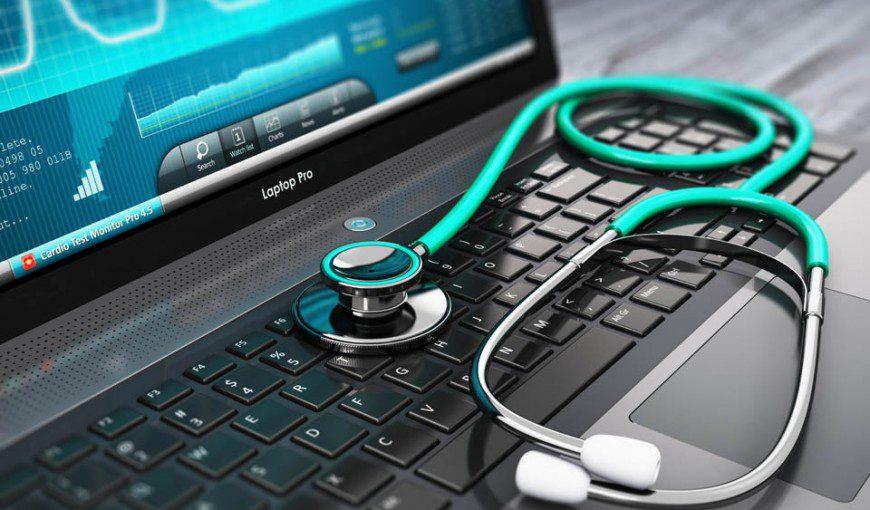 medical computer setup